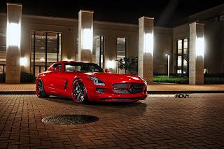 Mercedes Benz SLS 63 AMG Night HD Wallpaper
