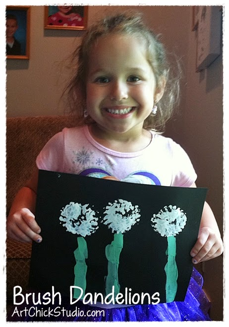 Destiny's Brush Dandelions Painting