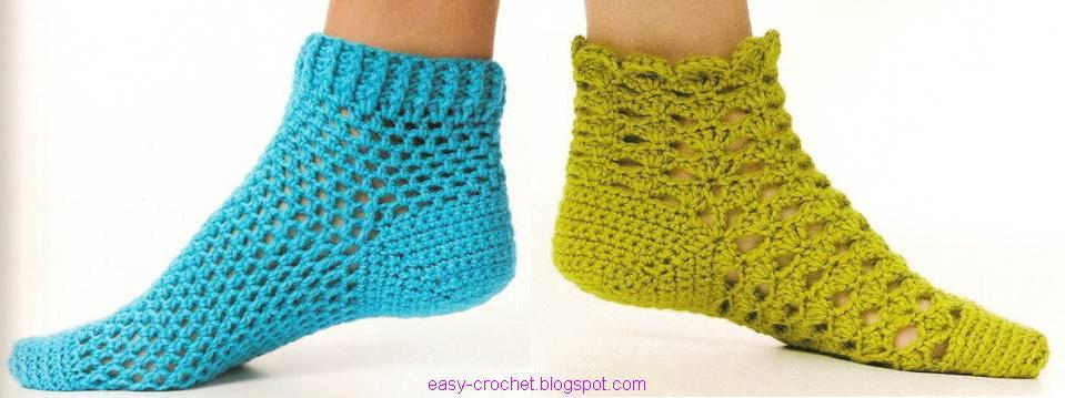 Stylish Easy Crochet: Warm Socks - Crochet Socks For Both Women And ...