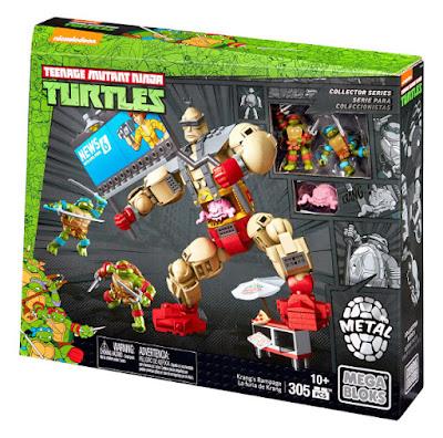 TOYS : JUGUETES - MEGA BLOKS   Teenage Mutant Ninja Turtles - Las Tortugas Ninja  La furia de Krang | Krang's Rampage TMNT - Producto Oficial Serie Television 2016 | Mattel DMW32 Juego de Construcción | Piezas: 305 | Edad: +10 años Comprar en Amazon España & buy Amazon USA