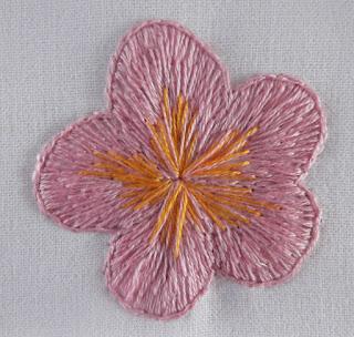 κέντημα, λουλούδια