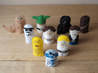 Star Wars felt finger puppets, handmade by Joanne Rich.