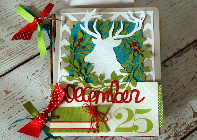 December Daily #scrapbookingalbum by Jen Gallacher with instructions. http://jengallacher.blogspot.com/2012/12/december-dailychristmas-traditions.html