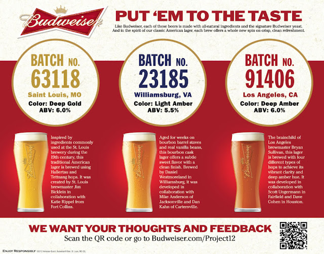 Budweiser Project marketing piece