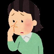 鼻の毛穴を気にする女性のイラスト