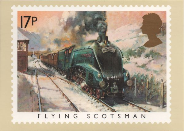 artist's impression of the flying Scotsman