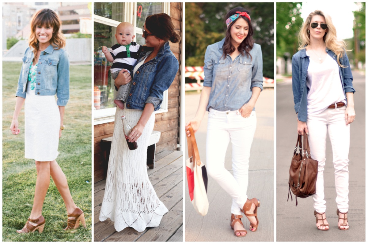 bloggers do denim on white