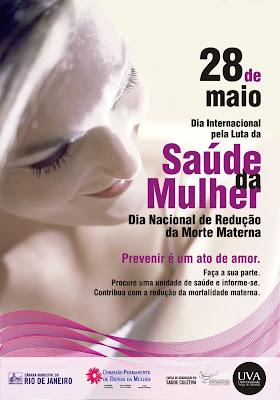 28 de maio - dia internacional da saúde da mulher