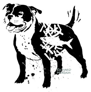 stencil art Staffordshire Bull Terrier
