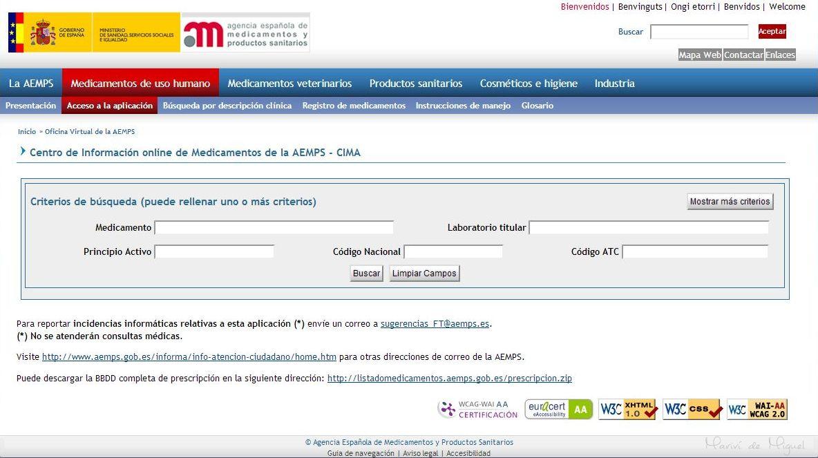 CIMA-AGENCIA ESPAÑOLA DEL MEDICAMENTO