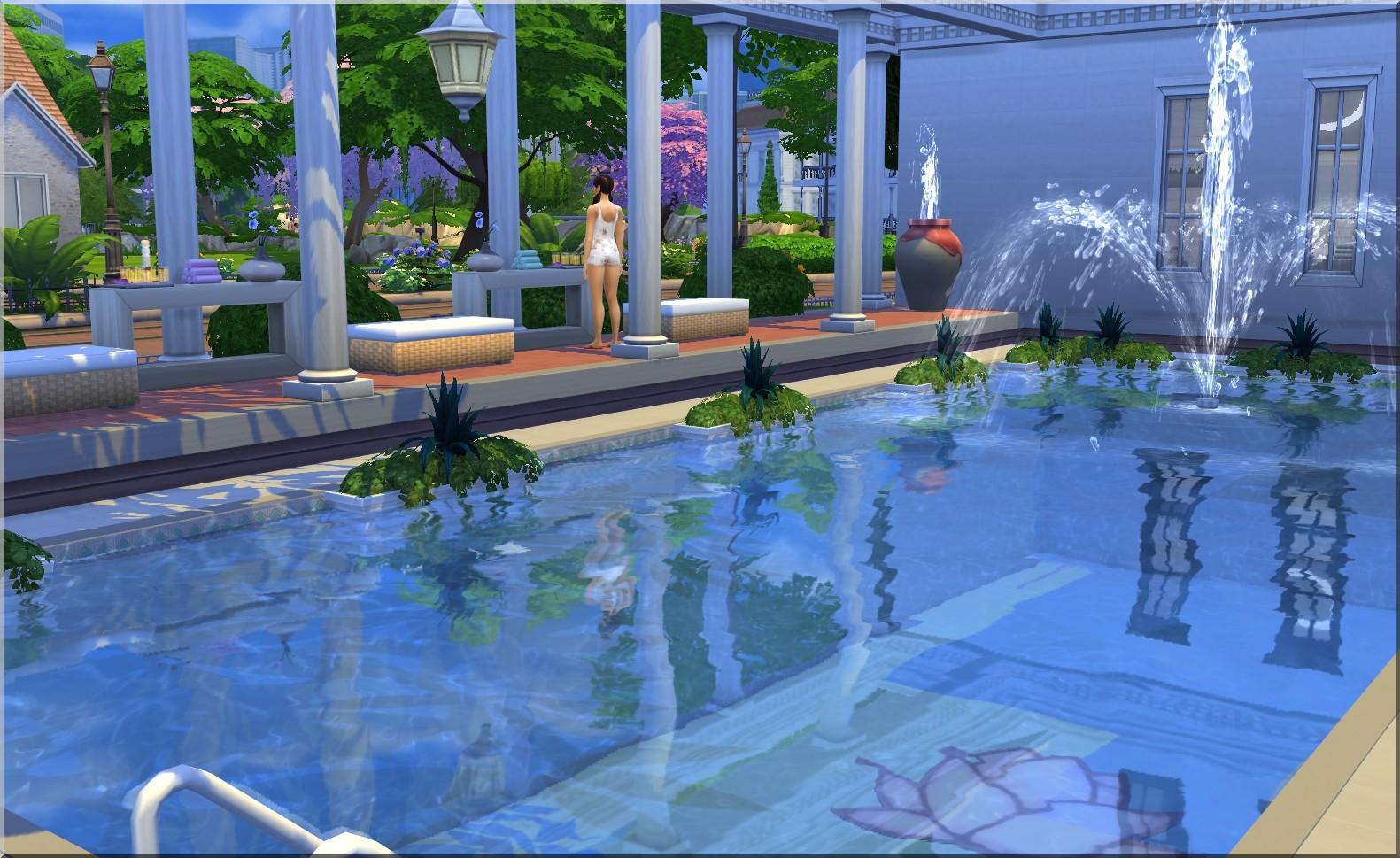 My Sims 4 Blog: Roman Baths Spa - No CC by Moni