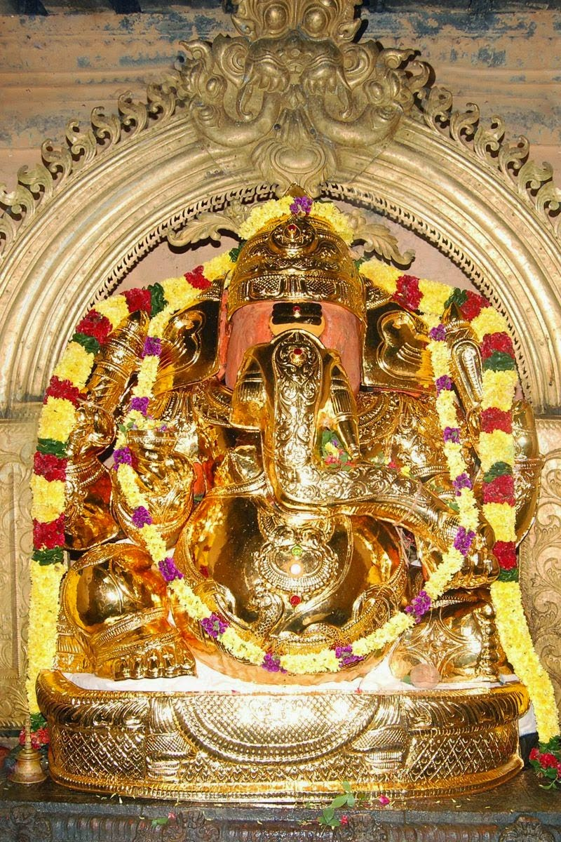 Lord Ganesha at the Arunachaleswarar Temple in Tiruvannamalai