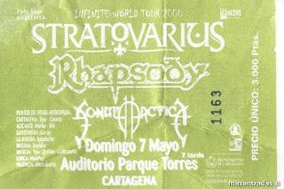 entrada concierto stratovarius