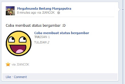 Cara Membuat Status Facebook Bergambar [UNIK]