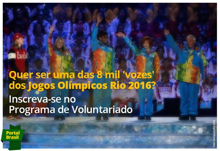 Programa de Voluntariado para os Jogos Olímpicos Rio 2016
