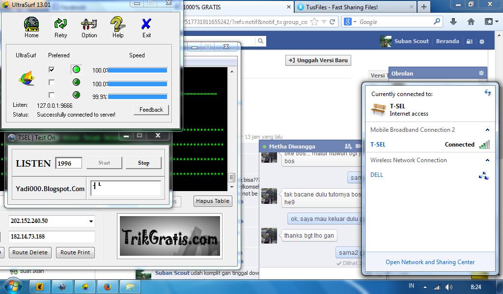 Telkomsel di PC komputer