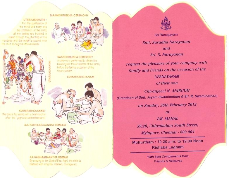 Exceptional Invitation Card Matter For Upanayanam, Invitation Card Sample Upanayanam, Invitation  Card Upanayanam,