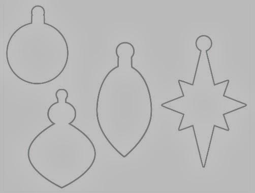 Ornament Outline Ornament shapes (prints gray