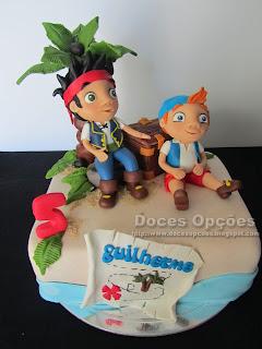 Bolo de aniversário com o Jake e os Piratas da Terra do Nunca