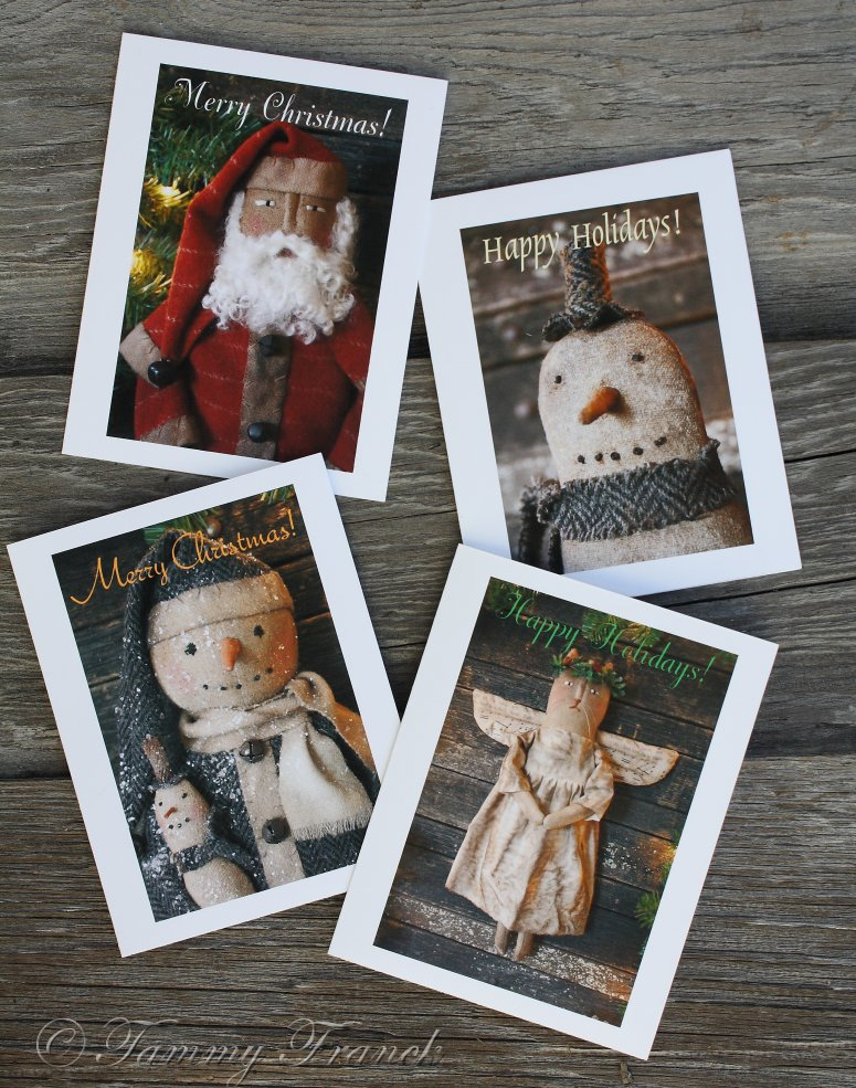 Rock River Stitches: Primitive Handmade Christmas Cards