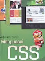 ajibayustore Judul Buku : Webmaster Series: Menguasai CSS Pengarang : Wahana Komputer Penerbit : ANDI