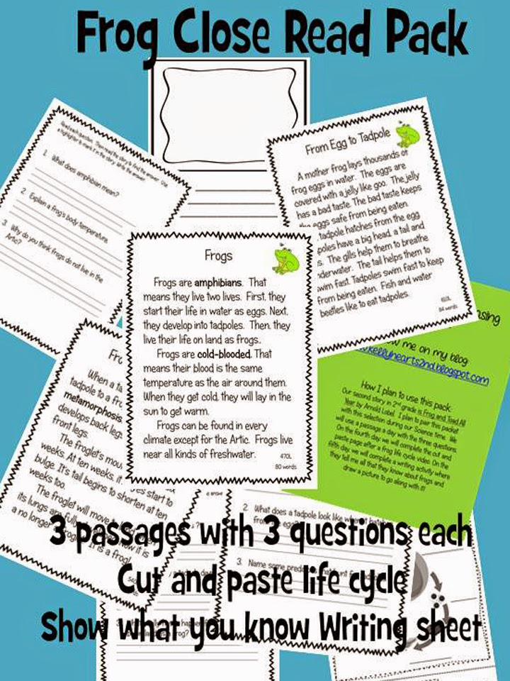 http://www.teacherspayteachers.com/Product/Frog-Close-Read-Pack-1398530