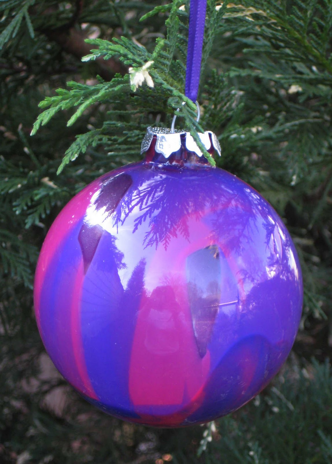 Glass globe ornaments - Crafts With Anastasia Painted Glass Ball Ornaments