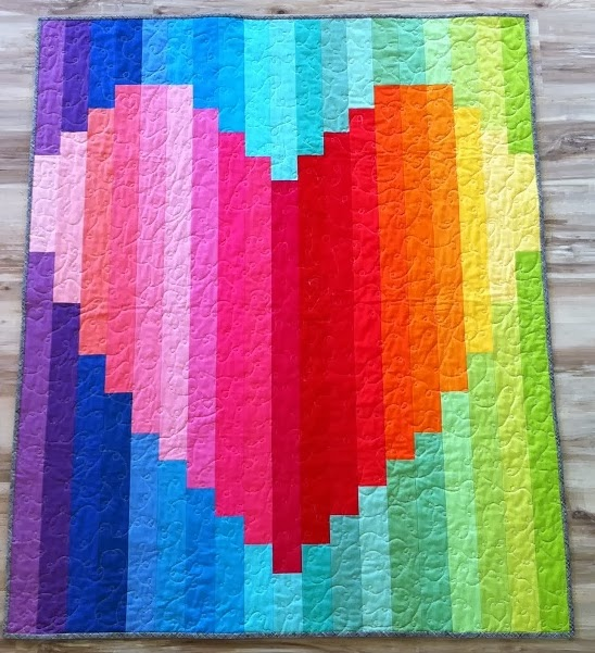 5Bent Needles: Love Heart Quilt