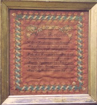Sampler created by Mary Merritt Hewlett (1802-1874)
