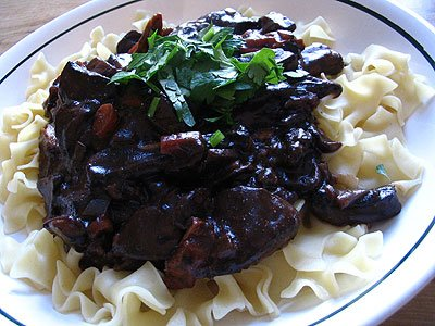 Vegetarian Mushroom Bourguignon | Lisa's Kitchen | Vegetarian Recipes ...