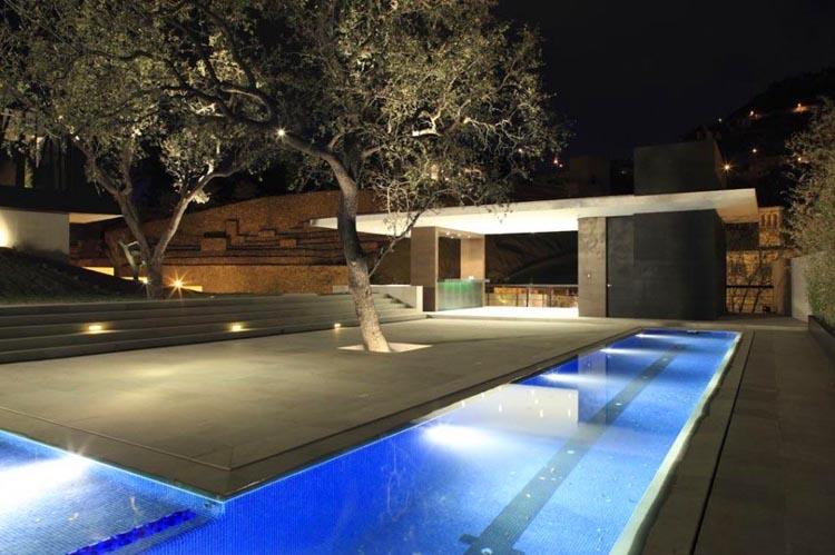 Casas minimalistas y modernas las mejores piscinas - Plan pool house piscine ...
