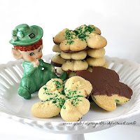 Shamrock Spritz Butter Cookies
