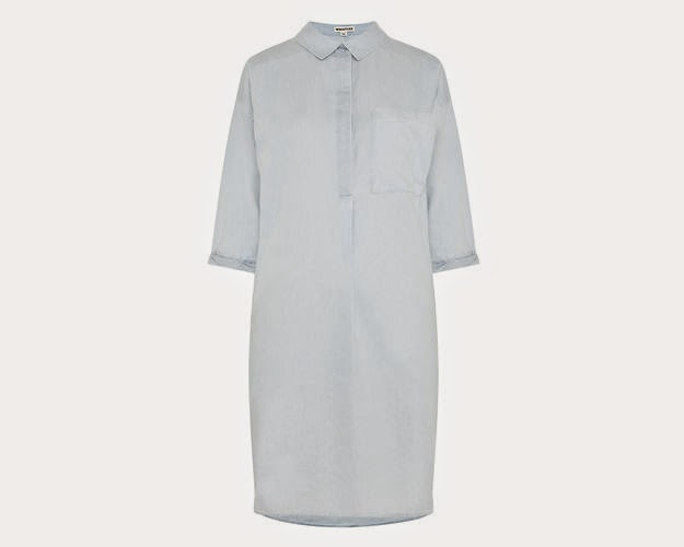 whistles light blue dress, whistles shirt dress,