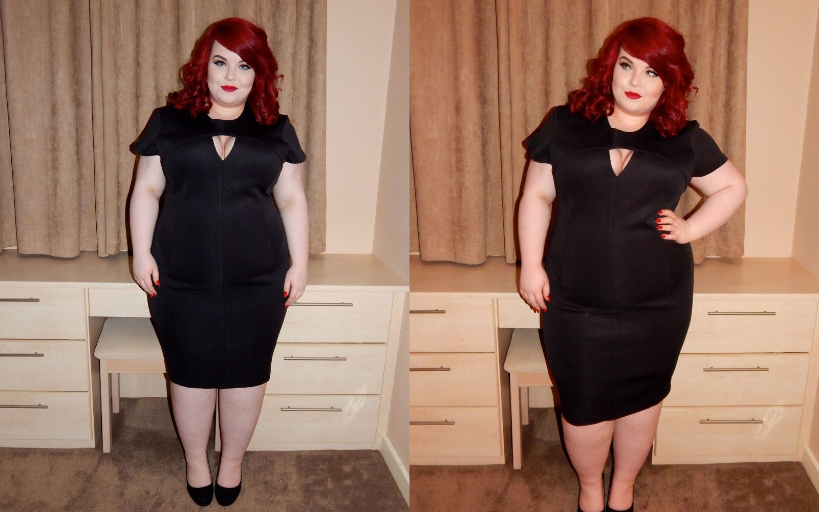 The Curve's Triangle Cut Out Dress, plus size blogger, georgina grogan, shemightbeloved