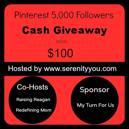 Pinterest 5,000 Followers $100 Cash Giveaway WW Ends 5/8