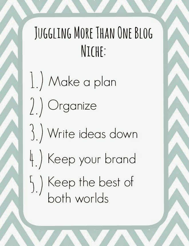 Juggling more than one blog niche