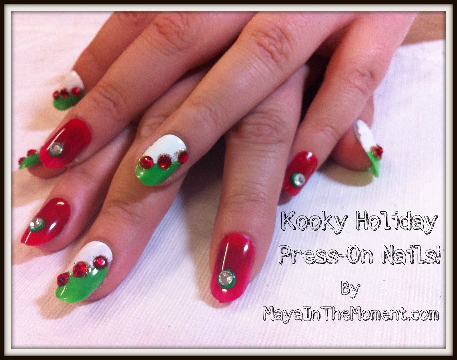 iLoveToCreate Blog: MAYA IN THE MOMENT: Holiday Press-On Nails!