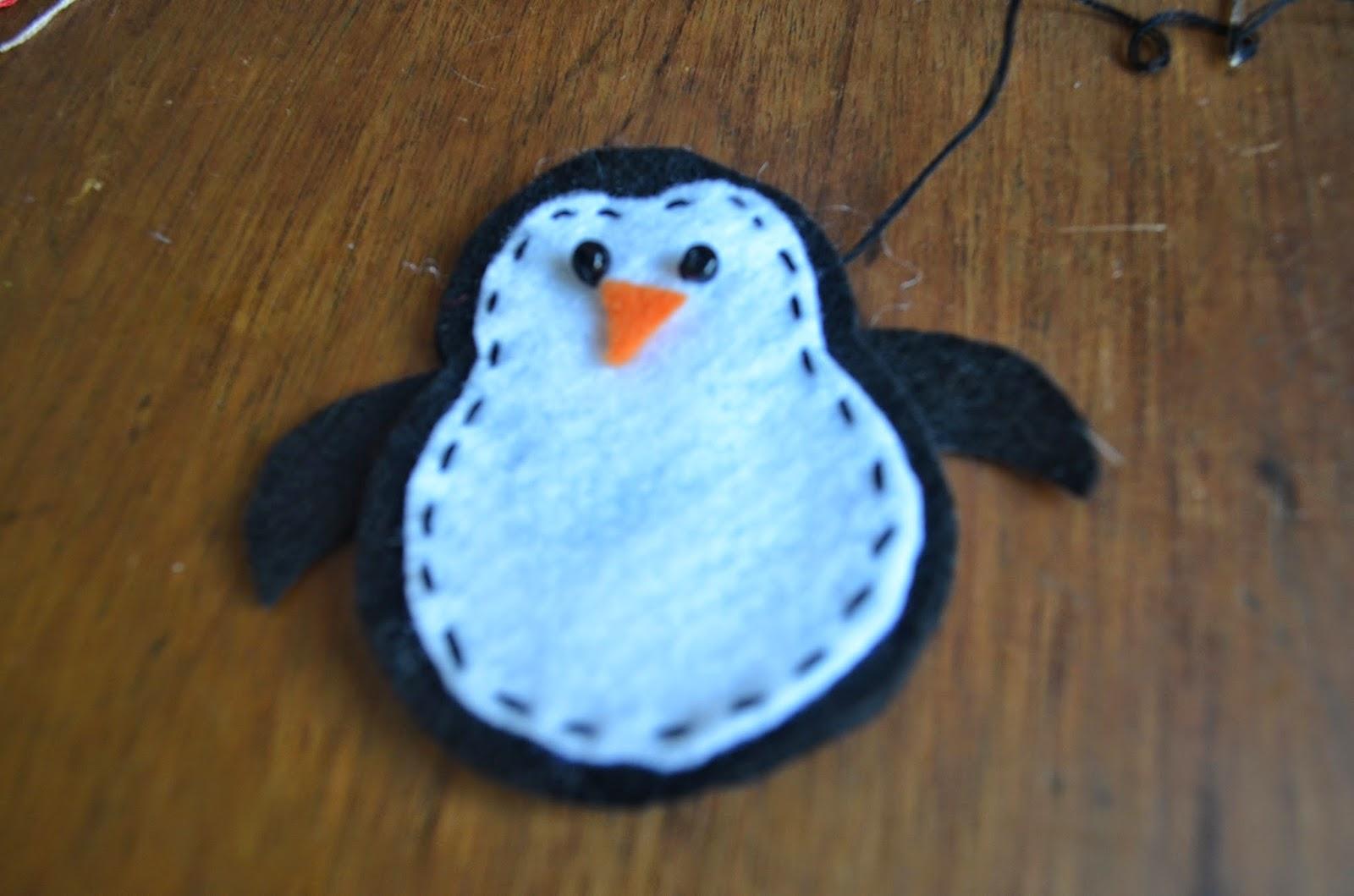 Pinguim em feltro