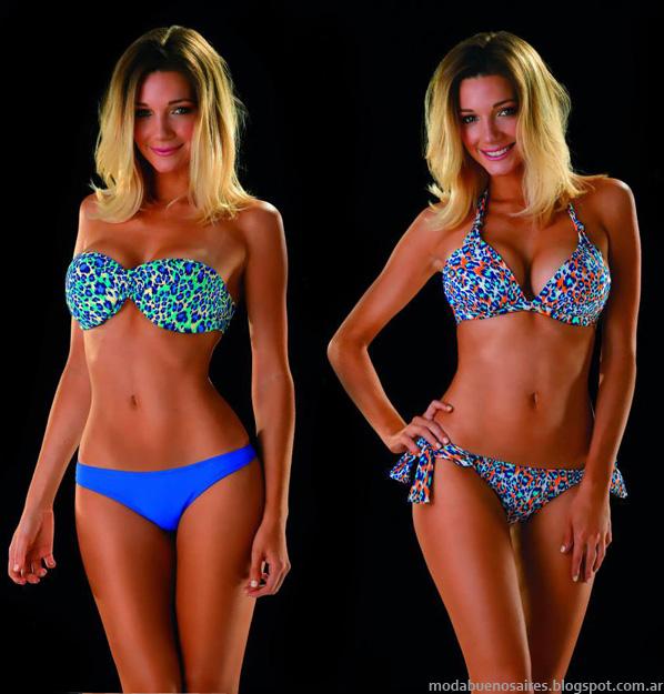 Bikinis estampadas y lisas moda 2014 Paul Klee.