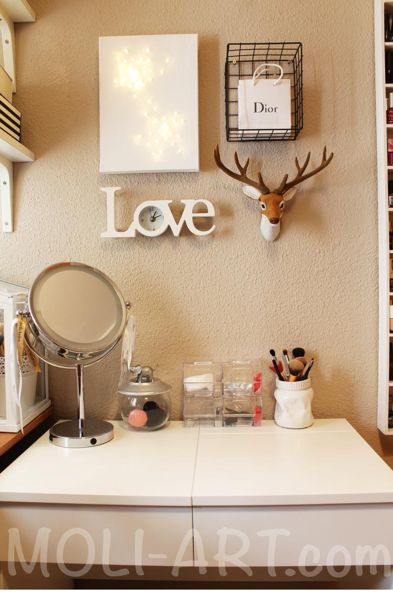 Mi nuevo tocador moli art beauty blog - Espejo tocador ikea ...