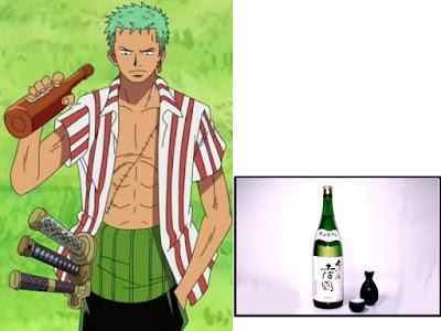 Roronoa Zoro dari anime ONEPIECE sangat gemar minum sake