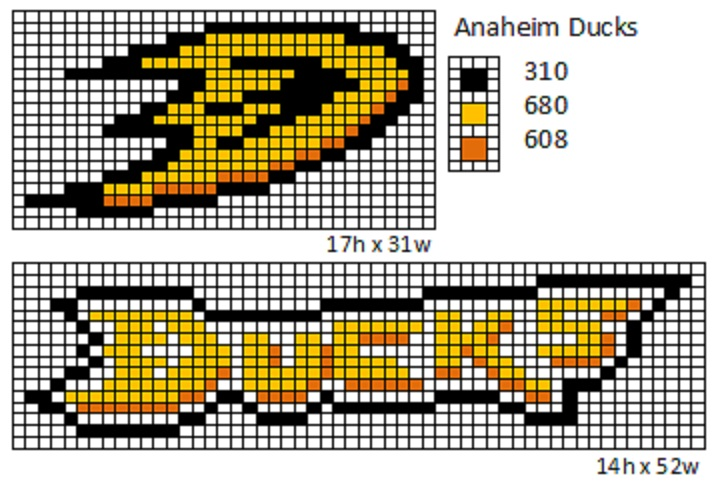 Crochet Fanatic Nhl Logos And Name Plates