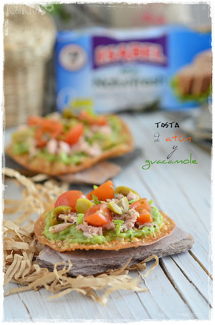 Tosta de atún y guacamole