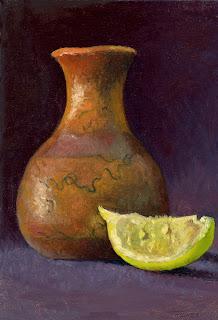 American Indian Horsehair Vase & Lemon: A First Meeting