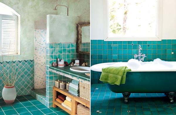 Piso Para Baño Verde:Diseño de Baños de color Verde – Varias Ideas