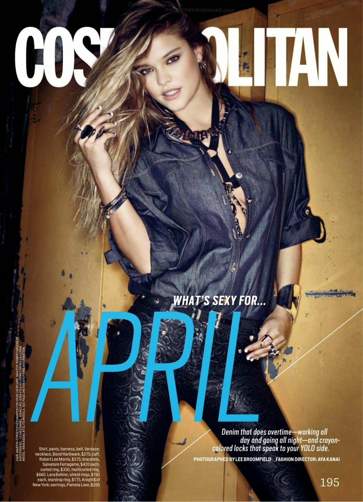 Nina Agdal HQ Pictures Cosmopolitan US Magazine Photoshoot April 2014