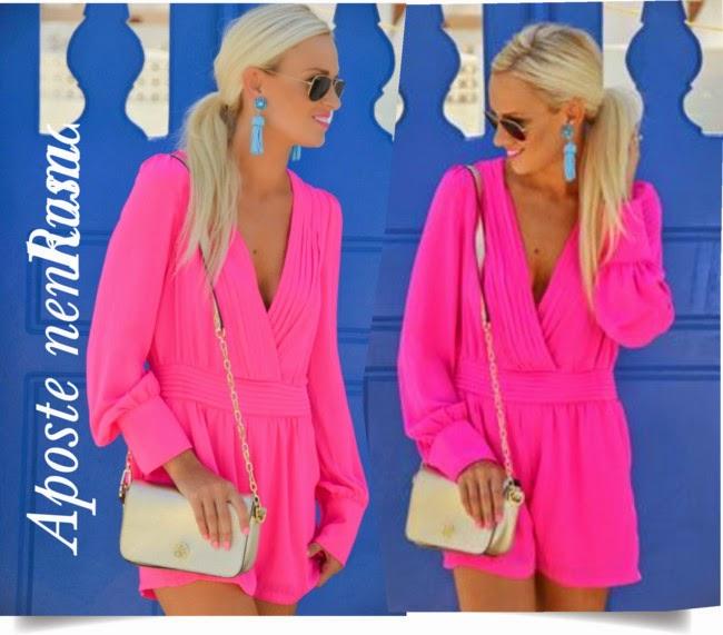 roupas e acessórios da moda, blog de moda, dicas de moda, macaquinho rosa