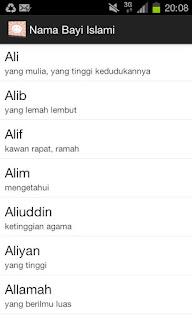 Nama Bayi Islami dan Arti Nama - Aplikasi Android yang berisi Kumpulan Nama Bayi Islami