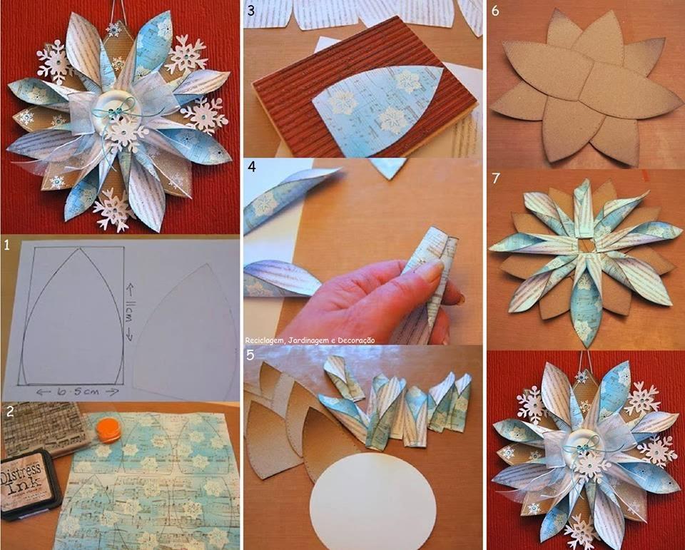 El detalle que hace la diferencia eco navidad - Decoracion navidad papel ...