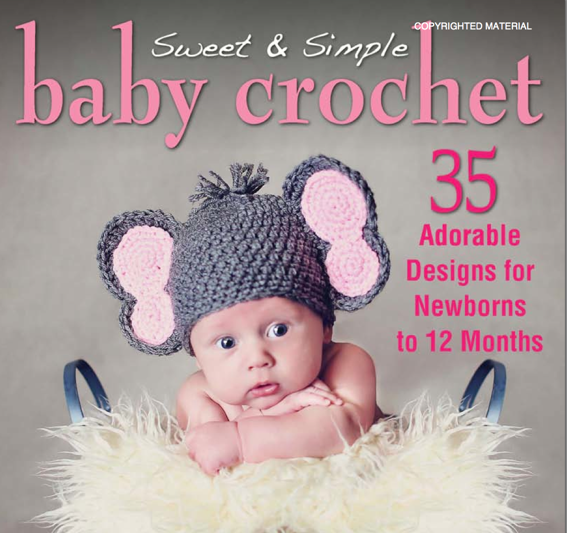 Simple Crochet Book Cover ~ Notyourgranny scrochet sweet simple baby crochet